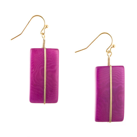 Astrid Earrings Purple Wine
