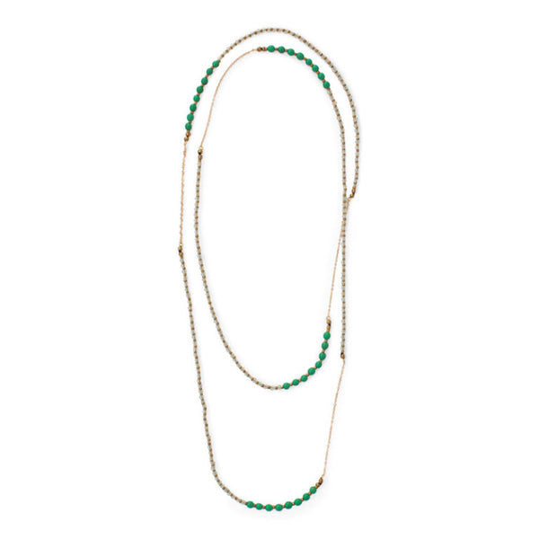 Barcelona Rope Necklace Emerald