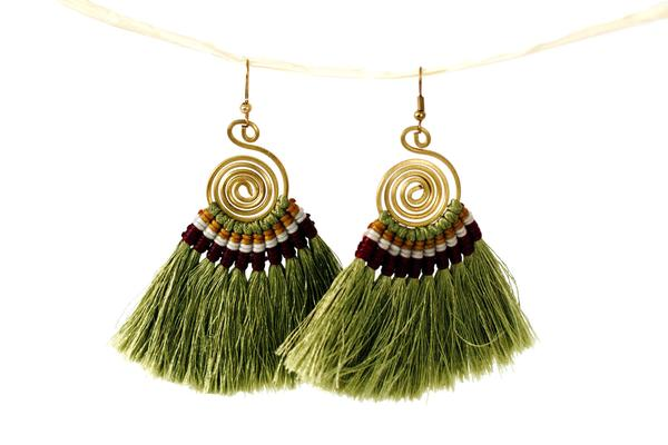 Tribal Tassel Earrings
