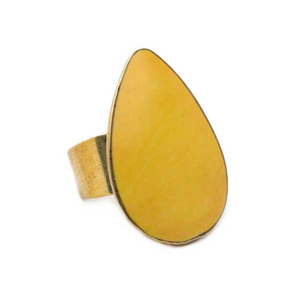 Tara Stone Ring Yellow