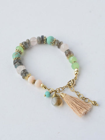 Playful Pastels Beaded Bracelet