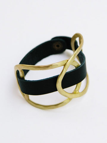 Leather Wrap Cuff