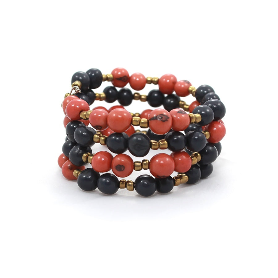 Color Block Bracelet Apricot/Navy