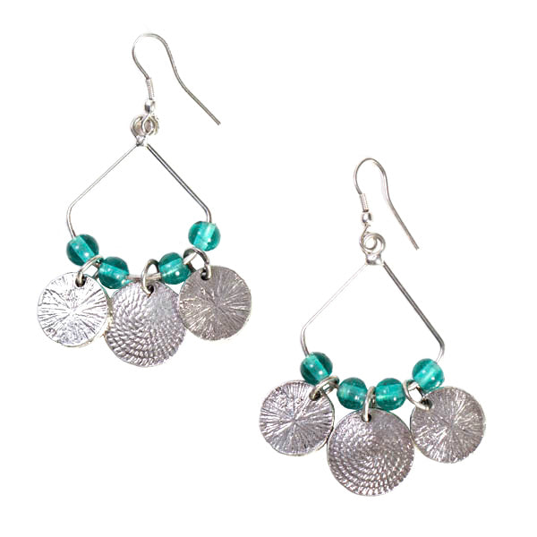 Market Coin Earrings Turquoise