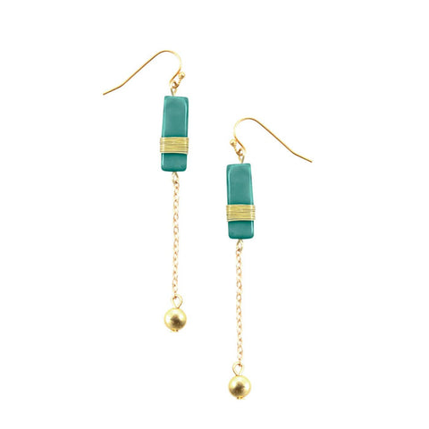 Madison Chain Earrings Turquoise