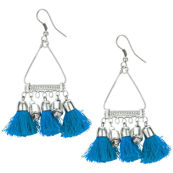 Taj Tassel Earrings-Available in Fuchsia, Turquoise, and Yellow