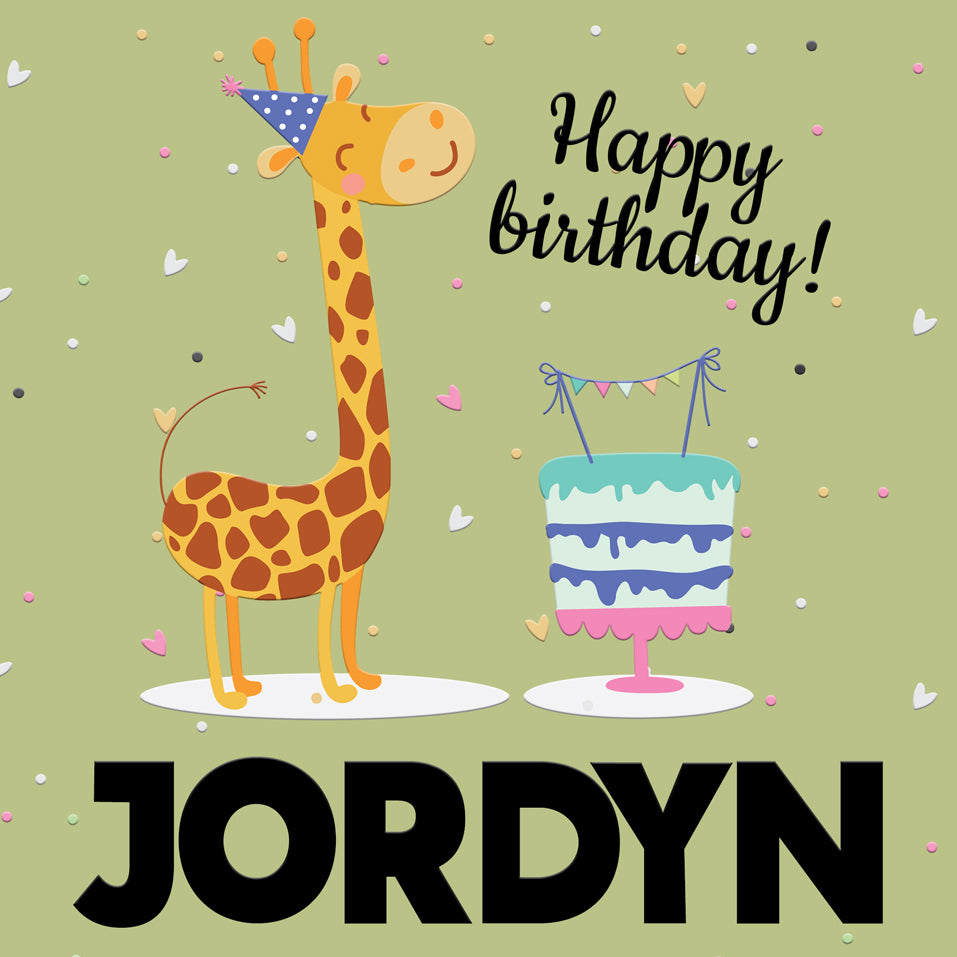 BirthdayTote_Giraffe_Green
