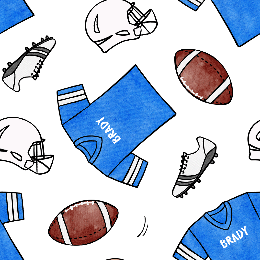 Football_Blue_White