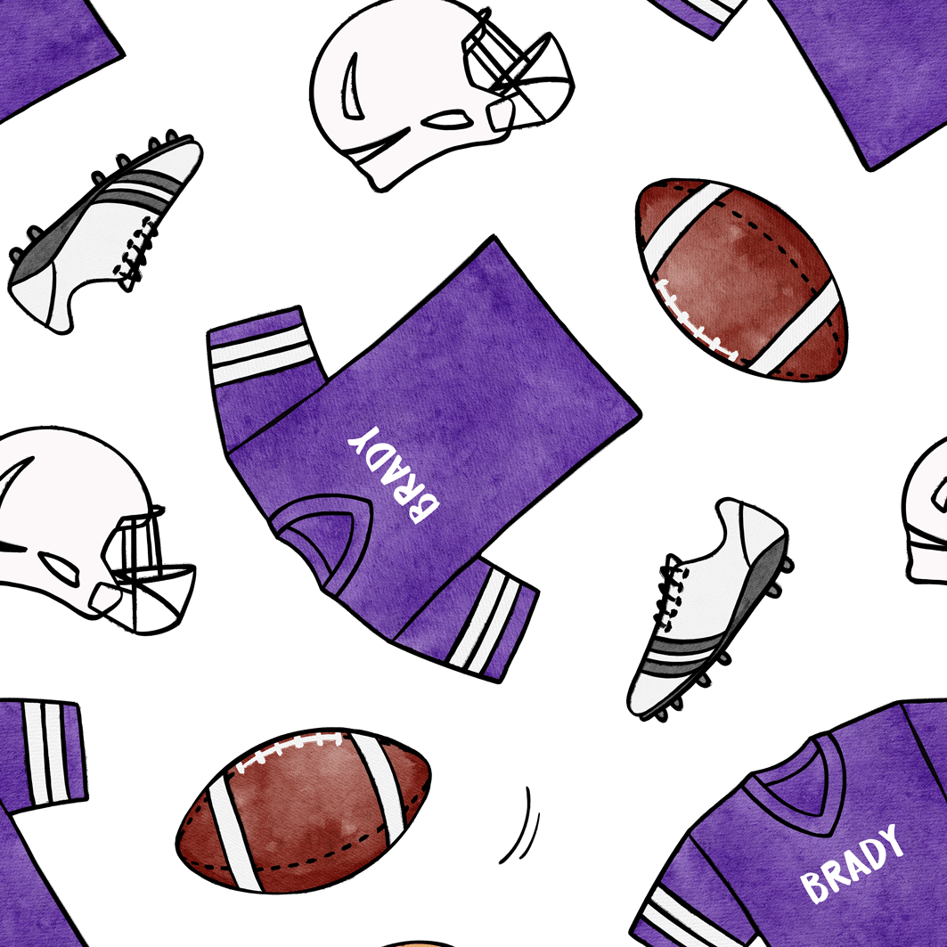 Football_Purple_White