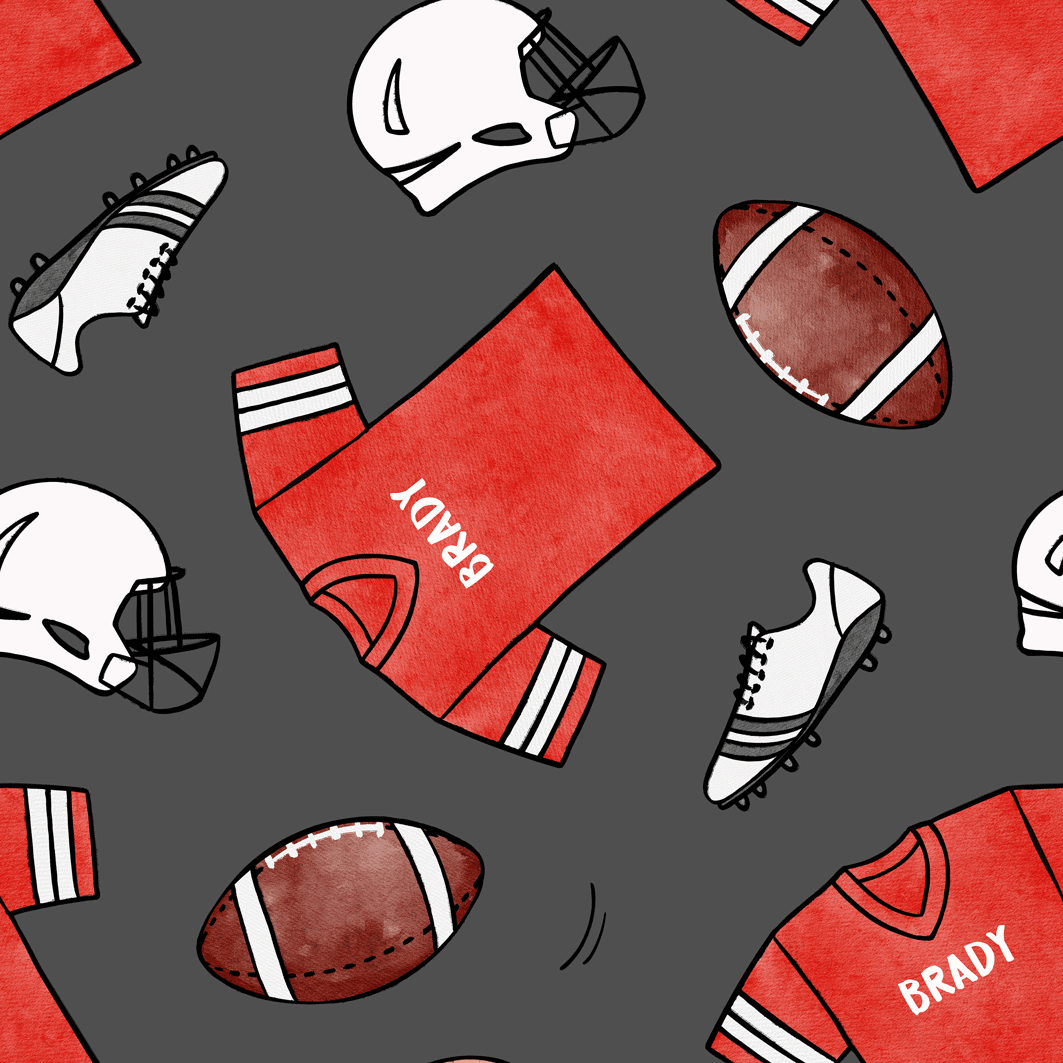 Football_Red_DarkGrey
