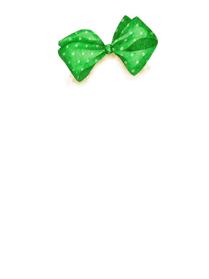 Gingerbread_Bow_Green