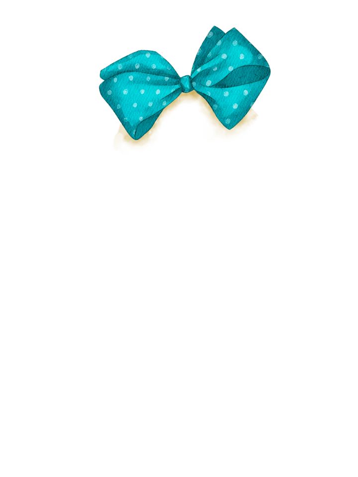 Gingerbread_Bow_TEAL