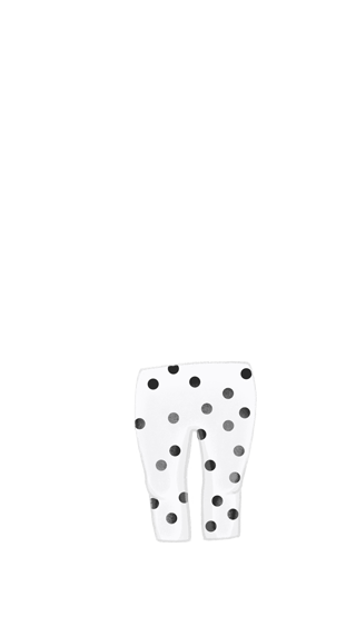 Girl_leggings_whiteBlackDots