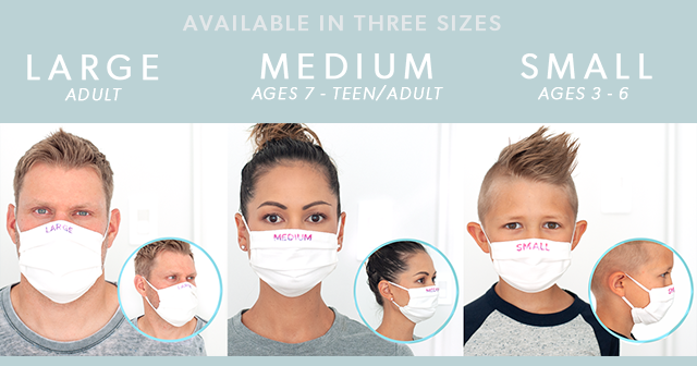 fabric mask size chart