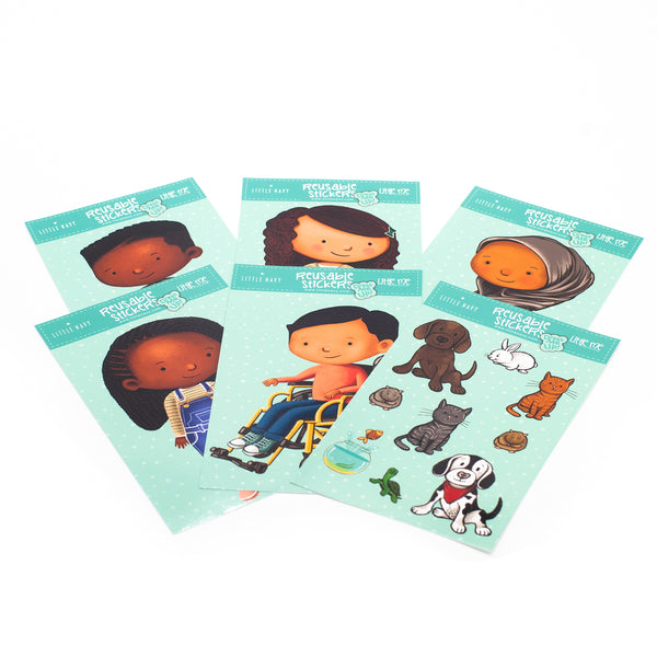 Little Me Collection - Dress Me Up Reusable Sticker Set