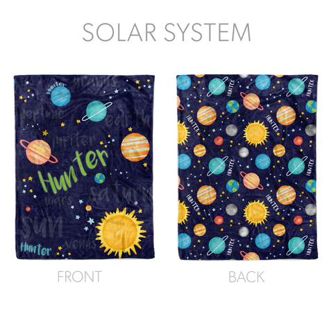 Solar System - Quilt Style Blanket
