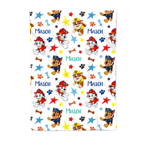 Paw Patrol - Personalized Kid Floor Cushion - COVER ONLY