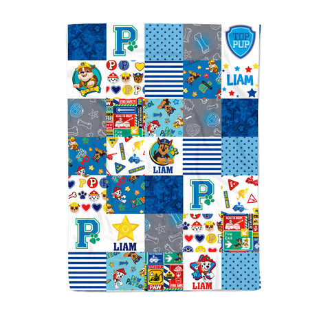 Paw Patrol - Personalized Quilt (Boy Pups)