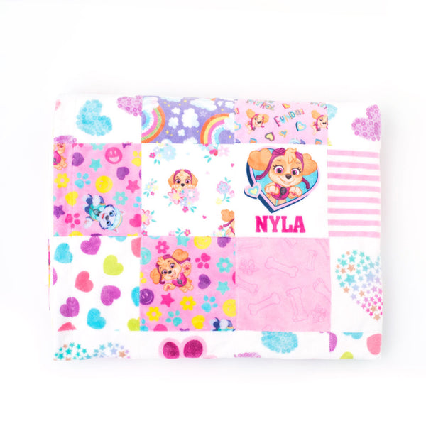 Paw Patrol - Personalized Quilt (Girl Pups)