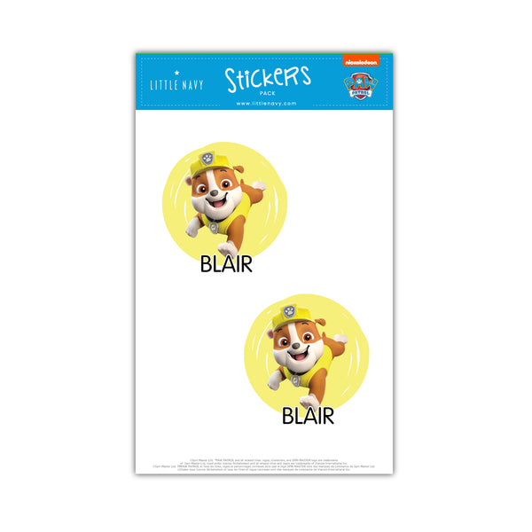 Sticky Labels Water Bottle Pack - Paw Patrol