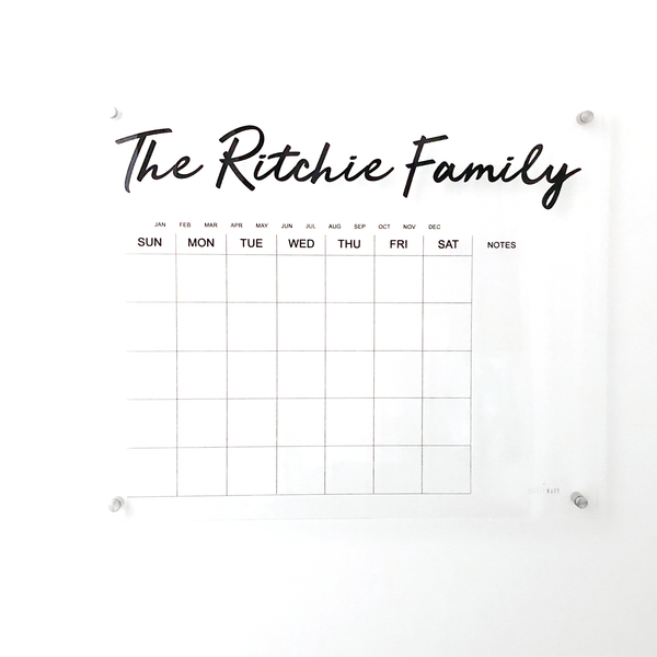 Personalized Sign - Calendar