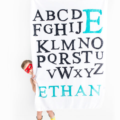 Personalized Alphabet Blanket