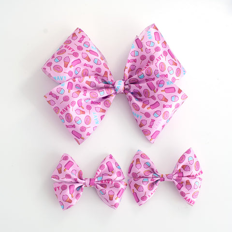 Personalized Satin Pigtail Bows