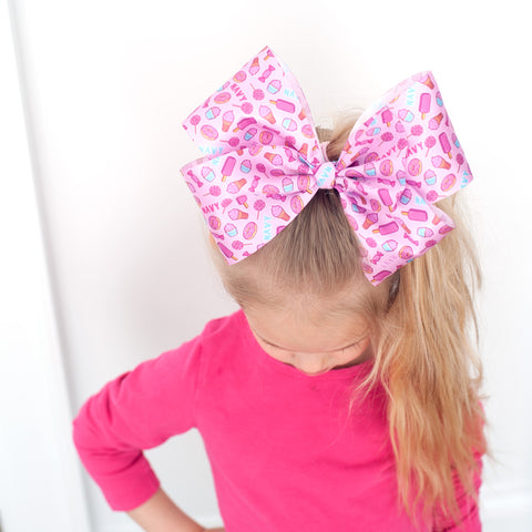 Personalized Satin Ribbon Cheer Bow