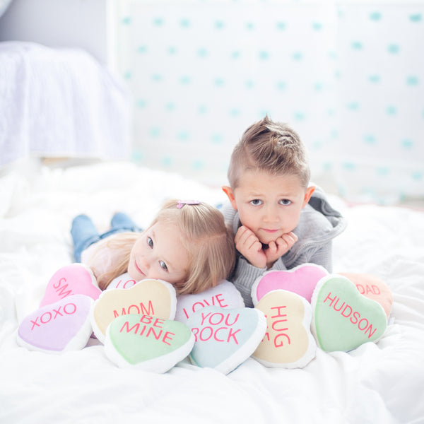 Personalized Plush Candy Hearts (3 Pack)