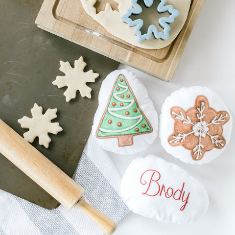 Personalized Plush Holiday Cookie - ONE COOKIE