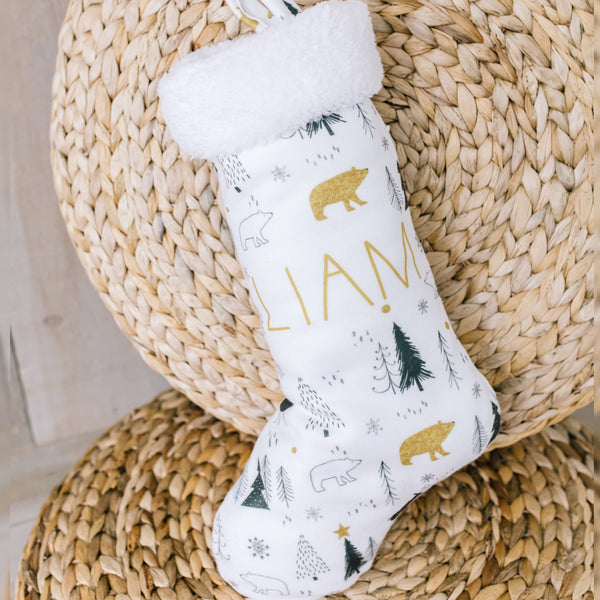 Personalized Stocking - Nordic Gold
