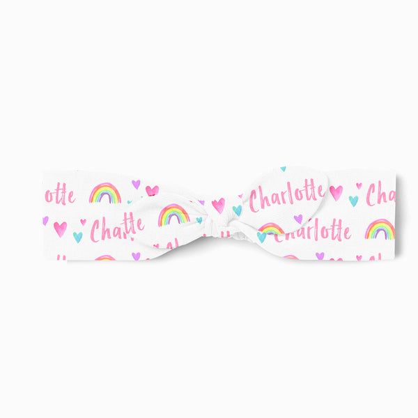Personalized Top Knot Headband