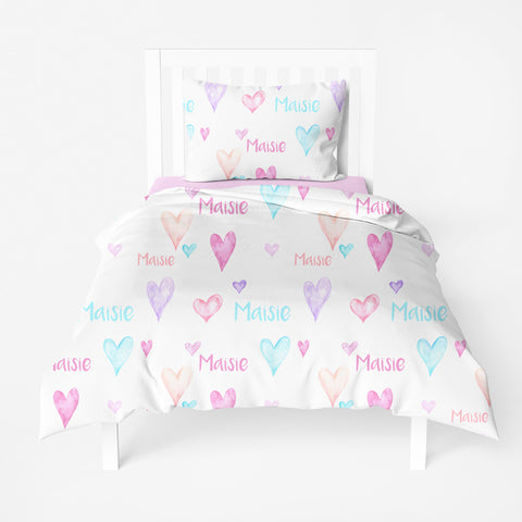 Personalized Twin Duvet Cover and Pillowcase Set