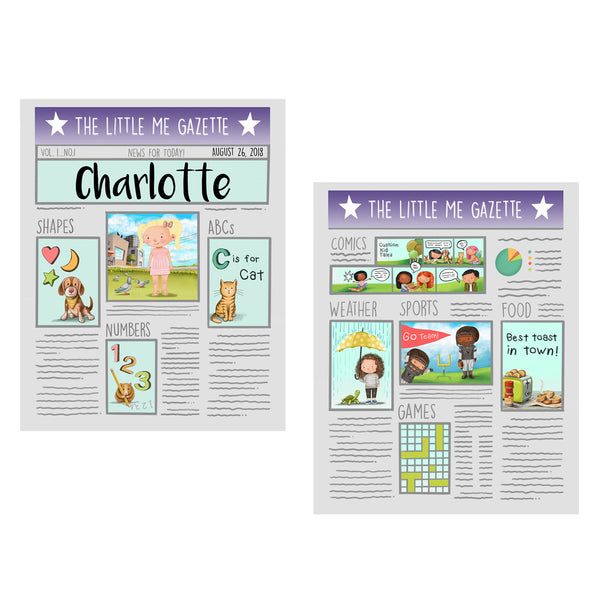 Little Me Crinkle Newspaper