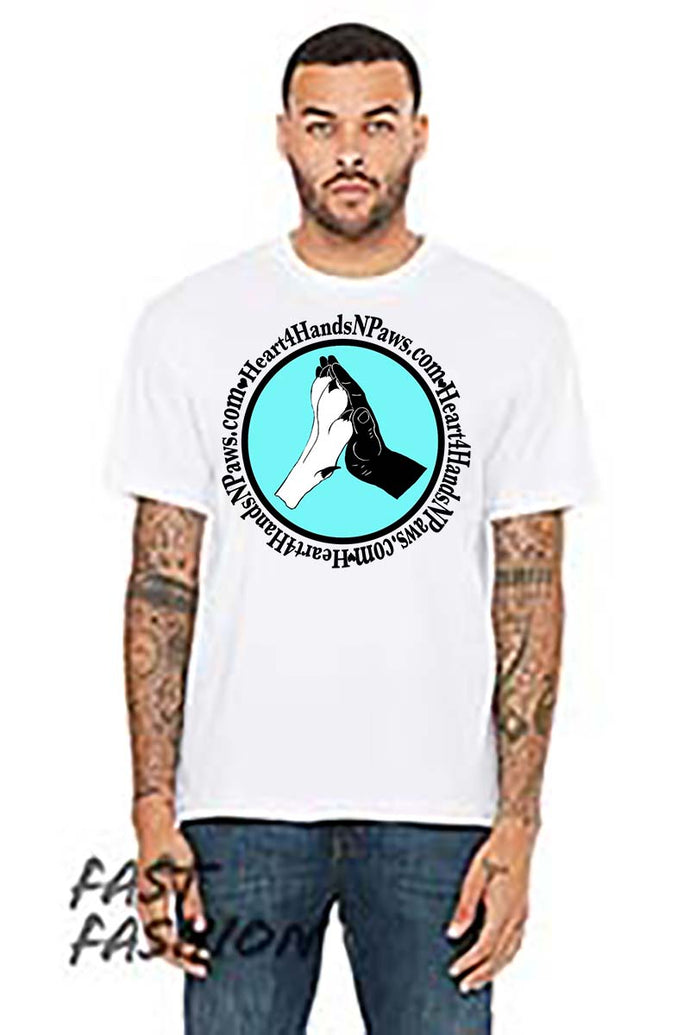 Mens Drop Shoulder Tee-Fundraiser-Heart4HandsNPaws