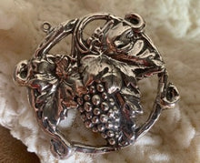 Sterling Grapevine pendant necklace, conversion/replica from antique Art Nouveau pin