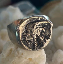 Stunning Custom Men's Viking ring in sterling silver, size 9