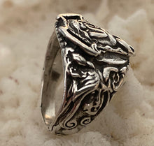 Mermaid ring in sterling, combination ring sz 7