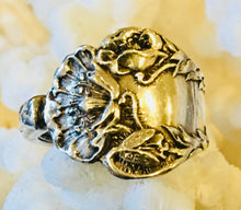 Art Nouveau Poppy Design Spoon Ring sz 10