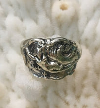 """Lady in Wave"" Art Nouveau Sterling Silver Ring size 6 1/2"