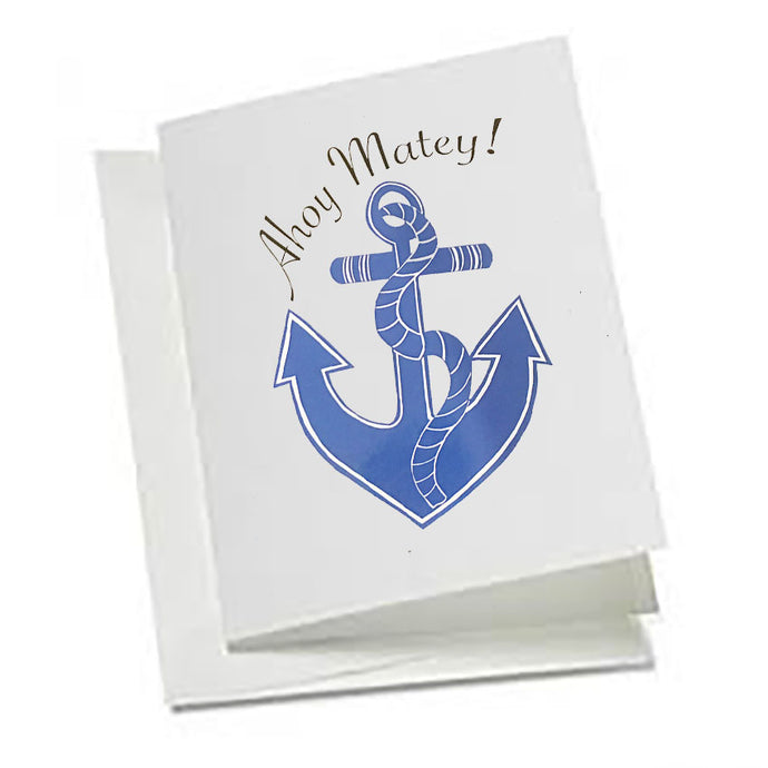 6 Art Note Cards-Ahoy Matey!