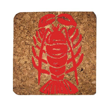 Lobster coastal coasters-set of 4, white