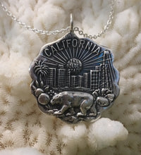 """California"" Reproduction Pendant Necklace of Vintage Piece"