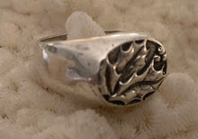 Custom Holly Ring in Sterling Silver Size 7