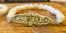 """Bebe"" Baby Bracelet Art Deco French Reproduction"