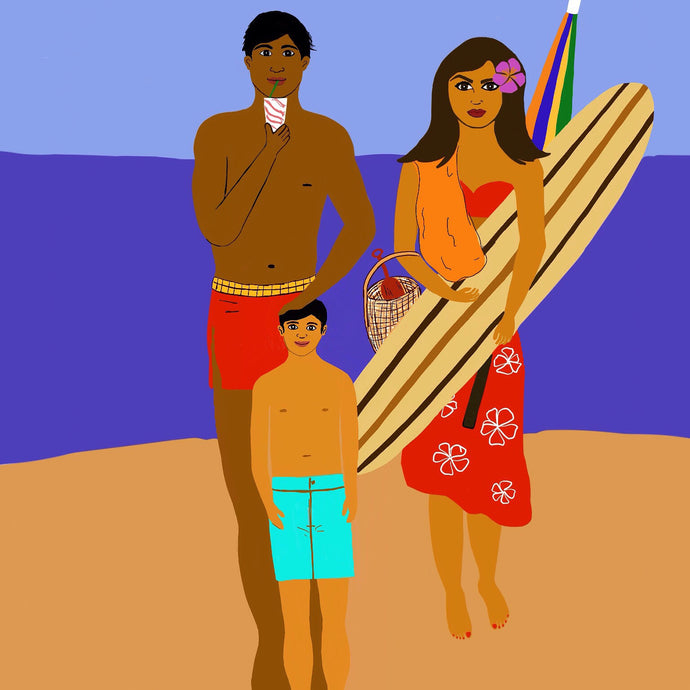 16x20 Gallery Wrap Print Hawaiian Family