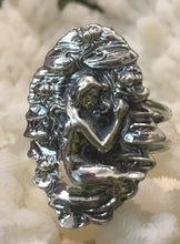 Mermaid in lily pads, awesome  reproduction ring  Art Nouveau