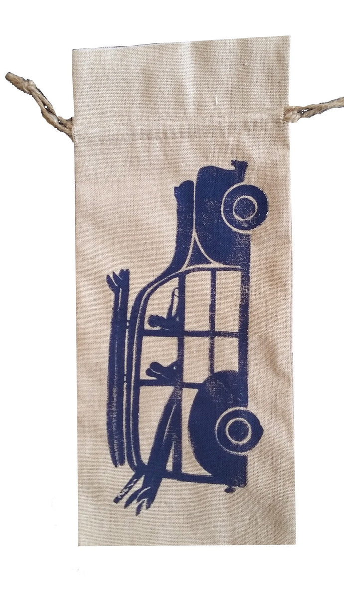Linen Bottle Bag