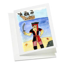6 Art Note Cards-Li'l Pirate