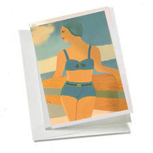 6 Art Note Cards-Mid-Century Bathing Suit Model